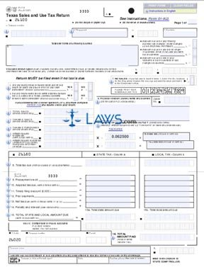Form 01-114 Texas Sales and Use Tax Return - Texas Forms ...