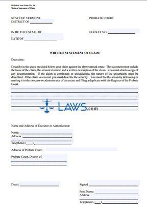 Written Statement of Claim