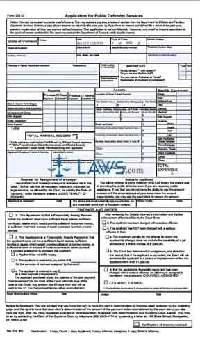 Application for Public Defender Services