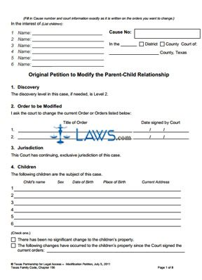 petition to determine parent and child relationship