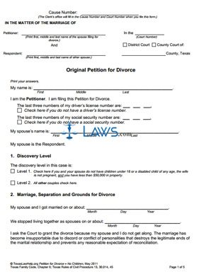Form The Uncontested Divorce Process Without Children ...