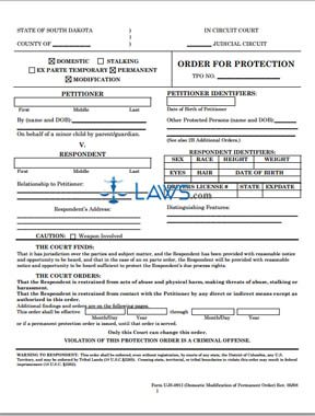 UJS-091J-Continuance of Temporary Protection Order Hearing Form