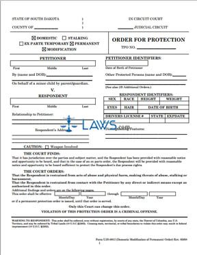 UJS-091I-Modification of Permanent Order Form