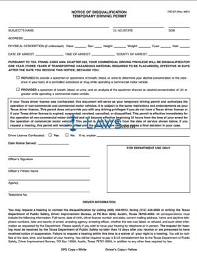 Form DIC-57 Notice of Disqualification