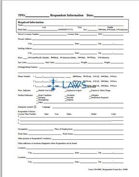 UJS-090C-Respondent Information Form
