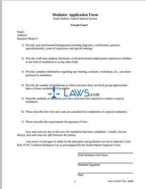 Mediator Application Form