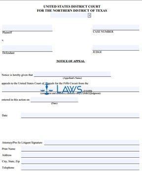 Pro Se Notice of Appeal