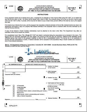 Form SC1120-T Tentative Corporation Tax Return and Conditional Extension