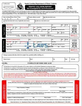 Form FR-309 Traffic Collision Report