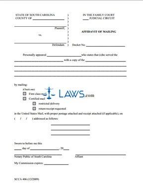 Affidavit of Mailing