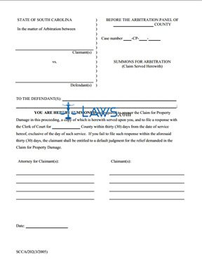 Summons for Arbitration