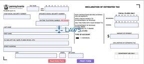 Form PA-40ESR I Declaration of Estimated Personal Income Tax