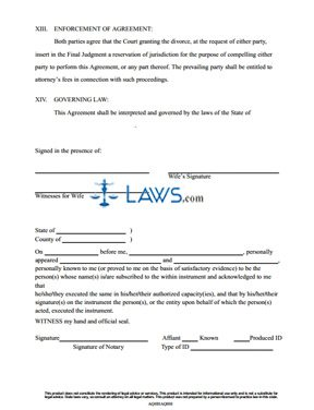 form marital settlement agreement pennsylvania