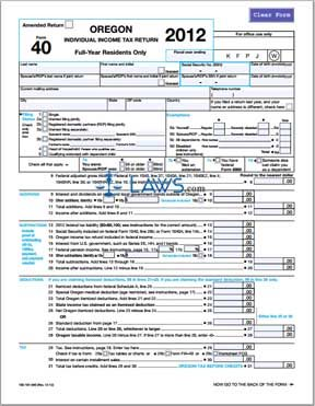 Form 40 Individual Income Tax Return Resident - Tax Forms - | Laws.com