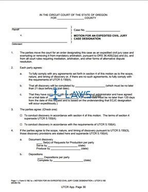Motion for an Expedited Civil Jury Case Designation (5/6/10)