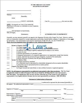 Authorization to Represent