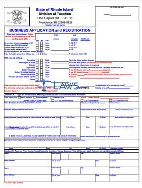 Form BAR 092010 Business Application and Registration