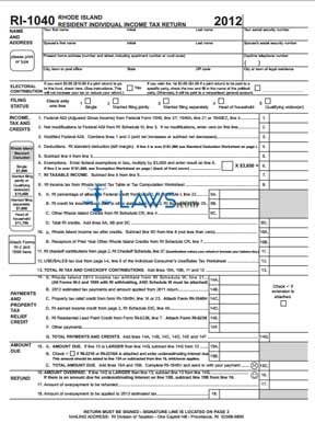 Form RI-1040 Resident Individual Income Tax Return