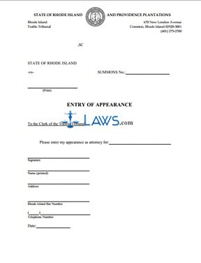 Entry of Appearance