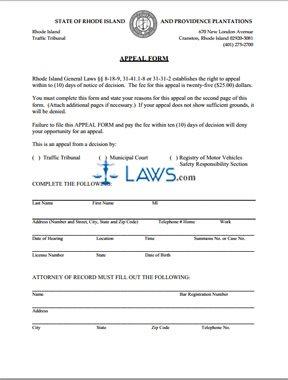 Appeal Form Municipal Court Appeals