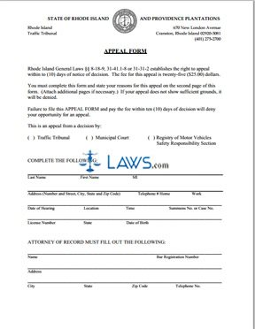 Appeal Form DMV Appeals