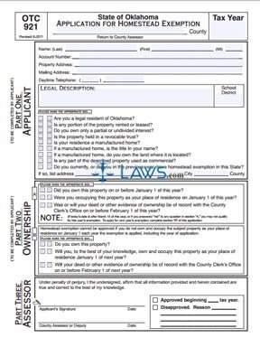 Form OTC-921 Application for Homestead Exemption - Property Tax ...