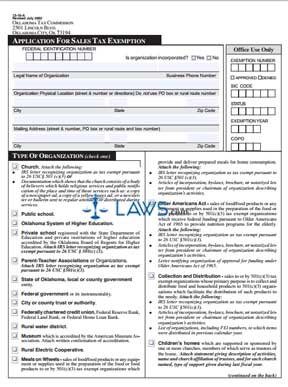 exemption form for taxes