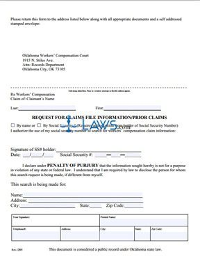 Prior Claims Request Form