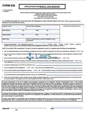 Application for Medical Case Manager