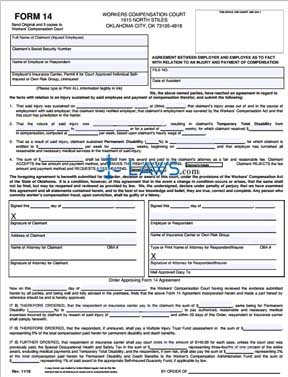 Agreement Between Employer and Employee as to Fact with Relation to an Injury and Payment of Compens