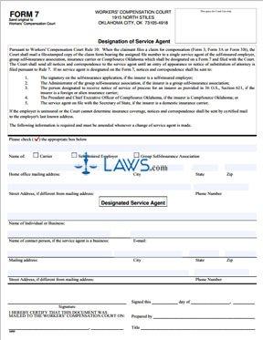 Designation of Service Agent