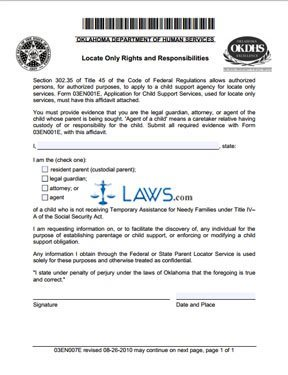 Locate Only Rights and Responsibilities (Form 03EN007E)