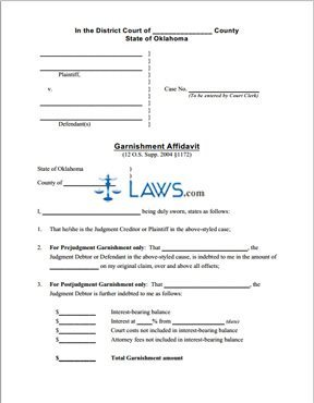 Garnishment Affidavit