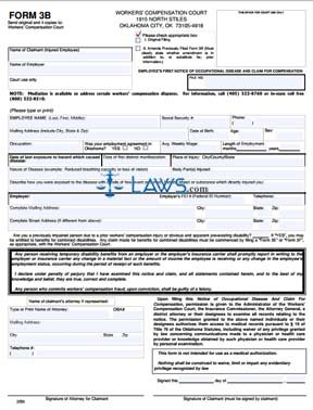 Employee's First Notice of Occupational Disease and Claim for Compensation. 2/06