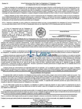 A Viso E Instrucciones Para Todos Los Empleados Y Empleadores Sobre La Compensacion Para Los Trabaja