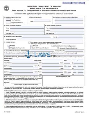 Form Application for Sales and Use Tax Exempt Entities or State ...