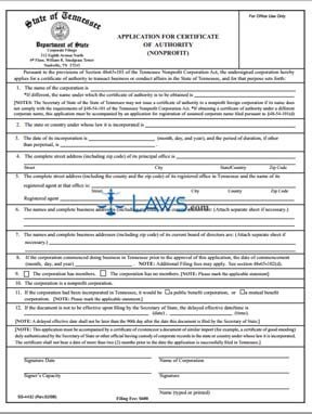 Form SS-4432 Application for Certificate of Authority