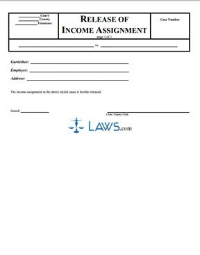 Release of Income Assignment
