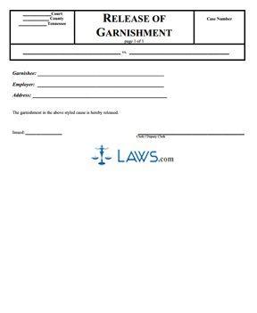 Release of Garnishment