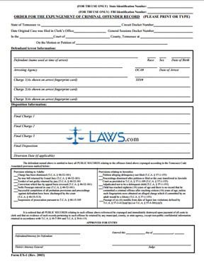 Order for Expungement of Criminal Offender Record