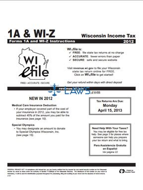 Forms 1A and WI-Z Instructions