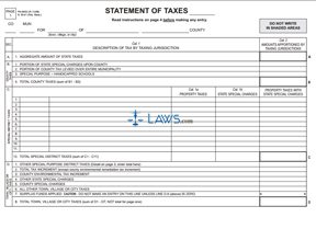 Form PA-5632 Statement of Taxes