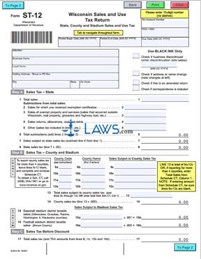 Form ST-12 Sales and Use Tax Return