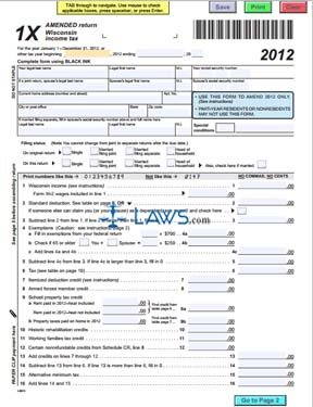 2015 I-111 Form 1 instructions, Wisconsin income tax