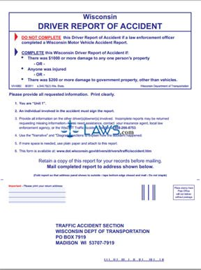 Form MV4002 Report of Accident