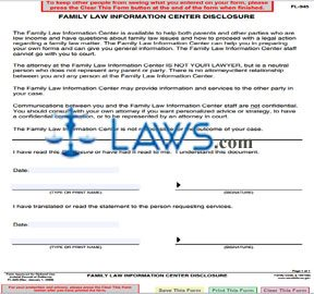 Family Law Information Center Disclosure