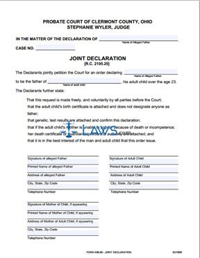 Form 658_00 Joint Declaration