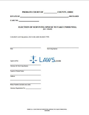 Election of Surviving Spouse to Take Under Will