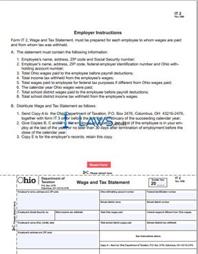Form IT 2 Wage and Tax Statement - Ohio Forms - | Laws.com