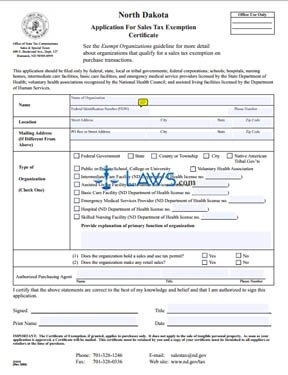 Form 21919 Application for Sales Tax Exemption Certificate